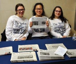 Veritas staffers: Alexxys MacDonald, Danting Zhu and Abby Spengler