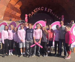 The cross country team used their long distance skills to participate in the Making Strides for Breast Cancer walk in Boston on Sunday, Sept. 30.