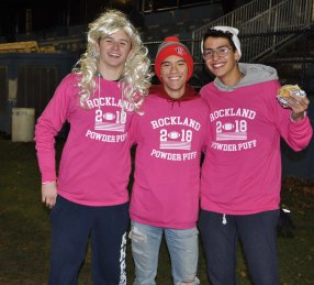 Sean Morrissey, Justin Sherlock and Fran Oliveira cheered on their senior classmates.