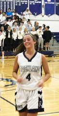 Senior Ashley Murphy had a great game and got a tournament win on Thursday night against Bishop Stang.