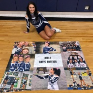 Bella Burns on Senior Night