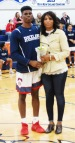 Rashaad Jean and his mom.