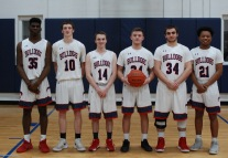 Seniors from left: Rashaad Jean, Dan Callahan, Peter Kohler, Mike Ebersole, Anthony DeCecco and Tyrae Worrell.