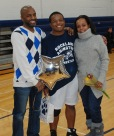 Antonio Gilstrap with his parents