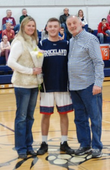 Mike Ebersole with his mom and dad.