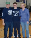 Sean Morrissey and his parents.