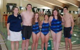 Coach Julie Margolis and captains, John Ellard III, Aleigha Williams, Angelina Vuong, Rebecca Mullen, and Tyler Beatrice