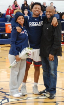 Tyrae Worrell with his parents.