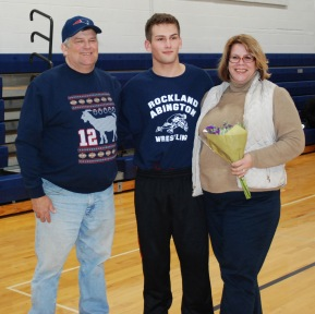 Tommy Tashjian with his parents.