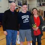 Liam Sullivan and his parents.