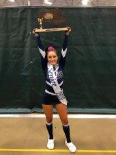 Bella Burns, senior cheerleader