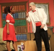 Annie and Daddy Warbucks played by Mikayla Andre and Jordan Cunningham. Veritas photo