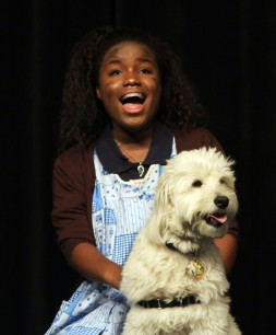 Mikayla Andre and Sadie at Saturday matinee performance of Annie.