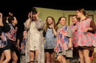Miss Hannigan and the orphanage girls who love to torment her! Veritas photo
