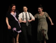 """""""Easy Street"""" performed by Olivia Janis (Lily), Nelah Dunn (Rooster) and Emily Gaboriault (Miss Hannigan)."""