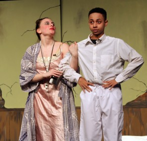 Miss Hannigan and Laundryman