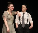 Emily Gaboriault and Nelah Dunn, sister and brother, Miss Hannigan and Rooster Hannigan. Veritas photo