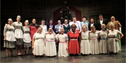 The full cast of the musical Annie