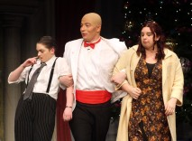 The Mudges are apprehended as frauds by Oliver Warbucks.