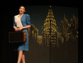 "Julia Yeadon sings ""NYC"" at dress rehearsal of Annie on Weds. night. Veritas photo"