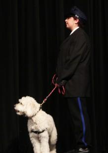 Olivia Janis and Sadie as Lt. Ward and Sandy