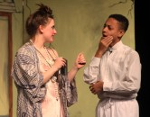 Emily Gaboriault and Terell Wright in one of the opening scenes on Saturday