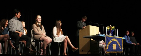 President Sean Morrissey shares a humorous moment at the ceremony.