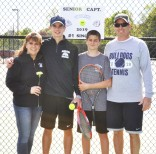 Tyler Beatrice, his mom, brother Adam and dad, Coach Beatrice.