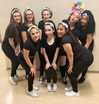 Twitter photo of dance team who made their debut at arts festival