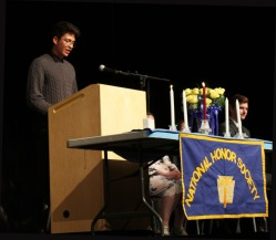 Francisco Oliveira defines one of the four pillars of the National Honor Society.