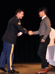Justin Sherlock receives the Matthew Pollini scholarship