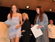 Maddie Blonde and Marissa Smith received scholarships from the Rotary Club of Rockland and Hanson.
