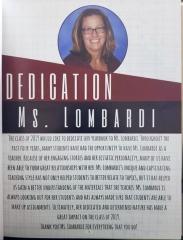 ms. lombardi dedication