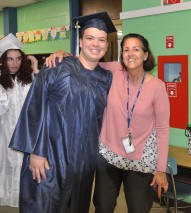 Nick Labollita with his Esten teacher Ms. McDonnell