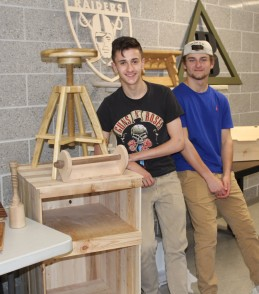Woodshop whizzes: Mike Norris and Mark Sprague