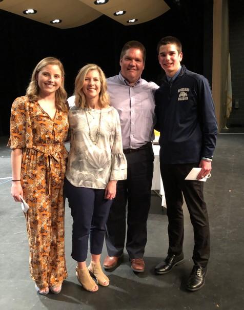 Meghann Sullivan, Mrs. Sullivan, Mr. Sullivan and Tyler Beatrice.