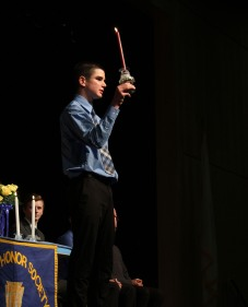 Vice President Tyler Beatrice exemplifies the torch.