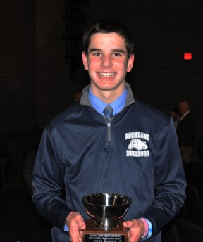 Tyler Beatrice received a silver bowl for athletics. Beatrice also received the Patrick J. Sullivan memorial scholarship.