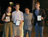 Computer Science Award Winners: Grade 9, Grace Condon, Grade 10 Damon Welles, Grade 11 Oliver Reera presented by Ms. Hoyo