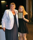 Althea Olsen, Grade 10 Mulit-Award winner with Ms. Paulding