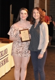Emily Gaboriault, Grade 10 Music Award winner with Ms. McComb.