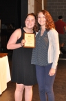 Haley Nee received the Grade 11 Music Award from Ms. McComb.