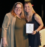 Lauren Buker, Grade 11 Family Consumer Science Award winner with Mrs. Donovan.