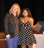 Lydia McWilliams won the Grade 11 Art Award, presented by Mrs. Thompson, Art Department Director.