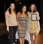 Maria Pala Grade 9 Spanish Award winner with Mrs. Shaugnessy and Ms. Dore.