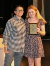 Rachel Spano, Grade 11, received academic achievement award in science from Ms. Hoyo