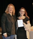 Mrs. Thompson presented Rebecca Killion with a Grade 10 Art award