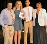 Hannah Wylie and Tyler Johnson received the St. Michael's Book Award.