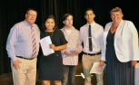 Juniors: Nicolle Ligia Gudiel Winter, Bryce Taylor and Sean Belmonte received Academic Excellence Certificates and letters from Mr. Damon and Ms. Paulding