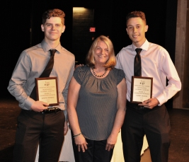 Vitor Santos and Joseph Murray, grade 11 received their awards in Construction technology.